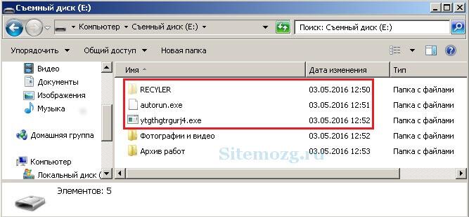 Удаление вирусных файлов с флешки