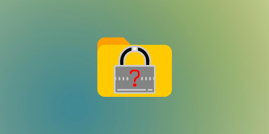 Как поставить пароль на папку разными способами